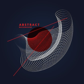 Вектор абстрактный фон с динамическими волнами