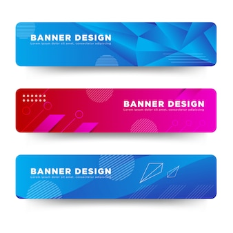 Vector abstract banner design web template colorful bright