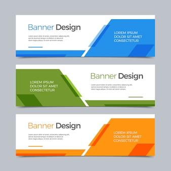 Vector abstract banner modern web template