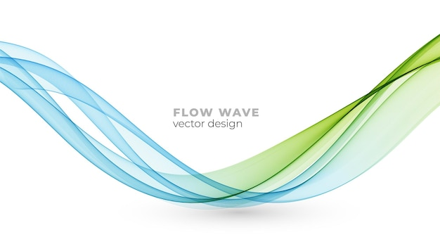 Vector abstract blue green colorful smoke flowing wave lines isolated on white background. transparent design element for technology, science, healthy modern concept.
