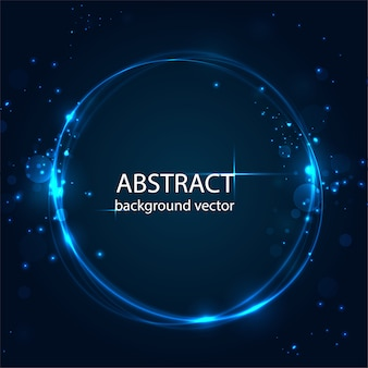 Vector abstract blue motion light effect background. for business, science, technology design.