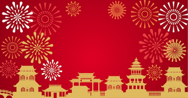 Vector of abstract chinese new year
