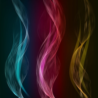 Vector abstract color waves design element.