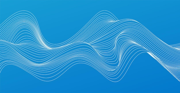 Vector abstract colorful flowing wave lines design element for technology, science, modern concept.