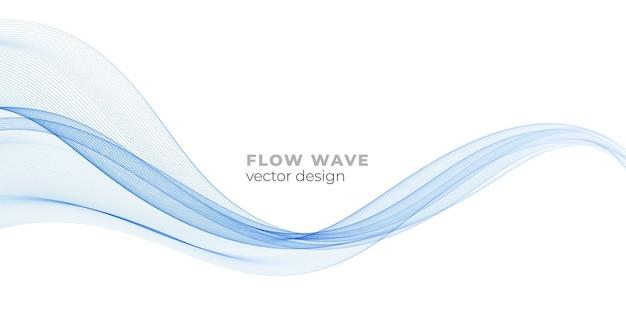벡터 추상 화려한 흐르는 웨이브 라인 기술에 대 한 흰색 배경 디자인 요소에 고립...