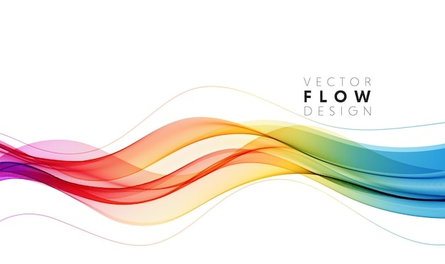 Vector abstract colorful flowing wave lines isolated on white background design element for wedding ...