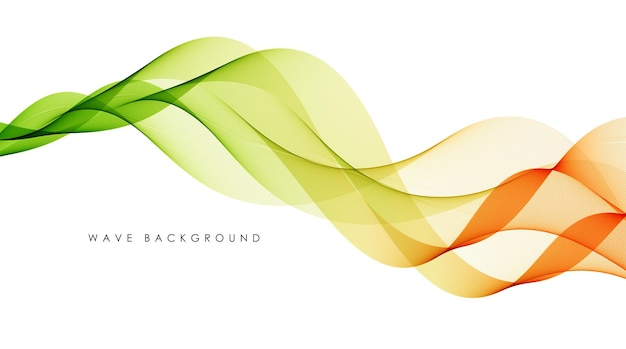 Vector abstract colorful flowing wave lines isolated on white background design element
