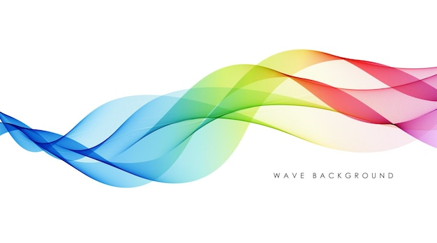 Vector abstract colorful flowing wave lines isolated on white background