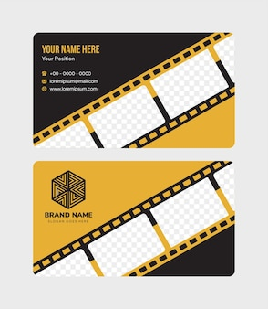 Vector abstract creative business cards template design background diagonal film stripped shape