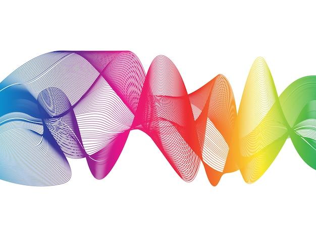 ベクトル抽象的な曲線の背景