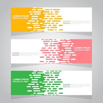 Vector abstract design banner template.