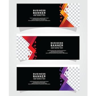Vector abstract design banner web template