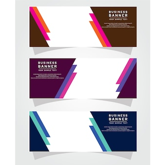 Vector abstract design banner web template