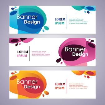 Vector abstract design web banner template