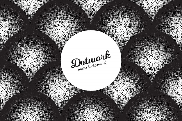 Vector abstract dotwork background