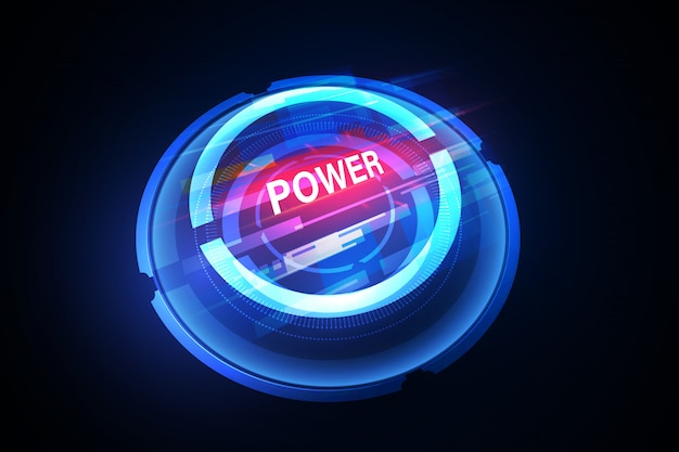 Vector abstract electric power background