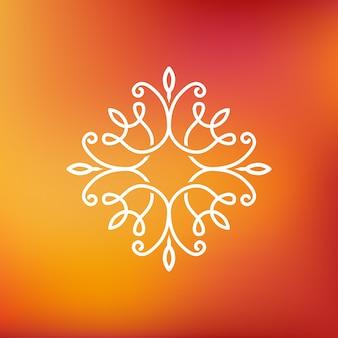 Vector abstract emblem - outline monogram