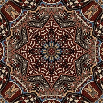 ベクトル抽象的な民族インド秋のシームレスなパターン部族