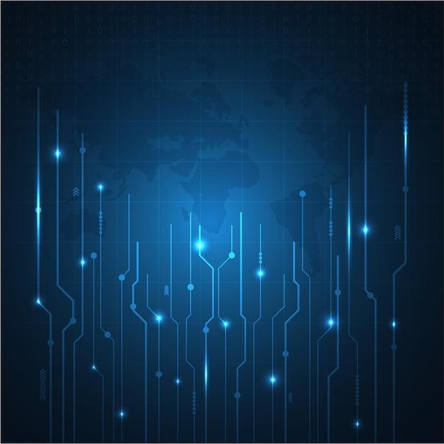 ベクトル抽象的な未来的な回路基板。ハイテクデジタル技術の概念。将来のイノベーション開発。抽象的な背景。