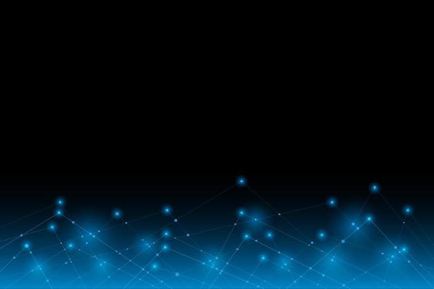 벡터 추상 미래 라인 전자