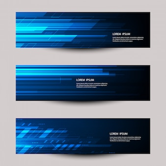Vector abstract futuristic technology banner template