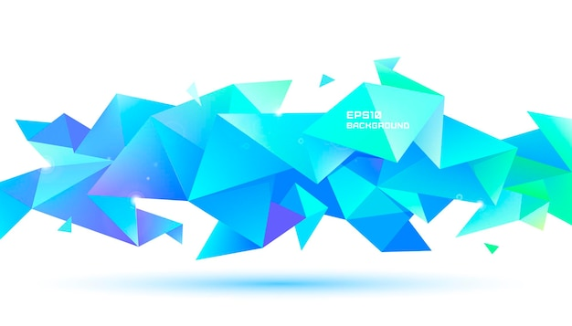 Vector abstract geometric 3d facet shape. use for banners, web, brochure, ad, poster, etc. low poly modern style background. multicolor