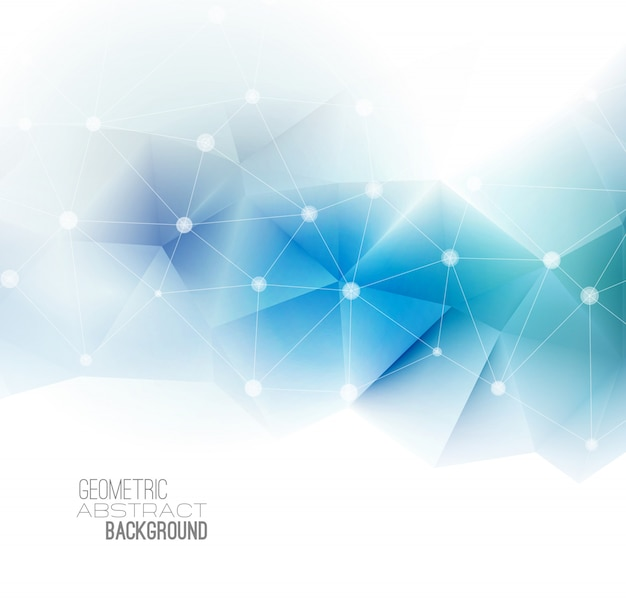 Vector abstract geometric background with triangle.