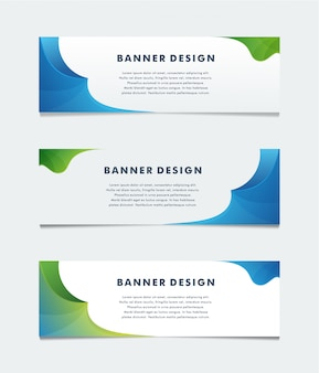 Vector abstract geometric design banner web template. - vector