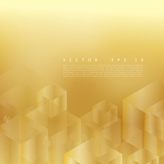 Vector abstract geometric gold background.