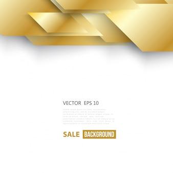 Векторные абстрактные геометрические золотой фон.