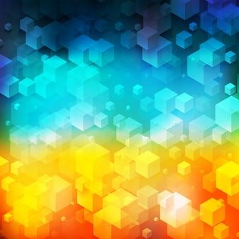 회색 큐브에서 벡터 추상적 인 기하학적 모양입니다.