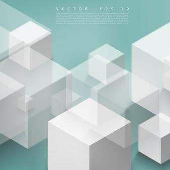 Vector astratto forma geometrica da cubetti grigi.