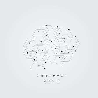 Vector abstract human brain