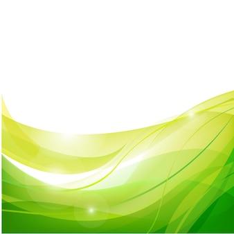 벡터 추상 라인 흐름 스트림 녹색 배경, 벽지