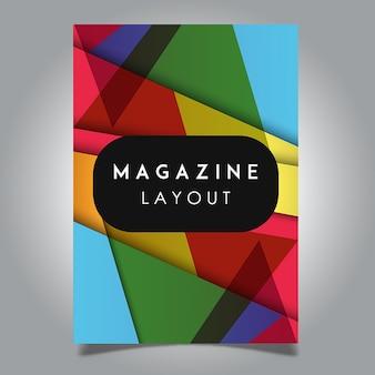 Vector abstract magazineレイアウトテンプレートデザイン