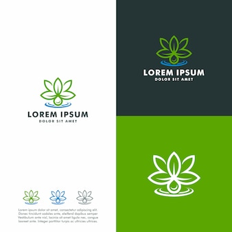 Vector abstract marijuana oil logo template