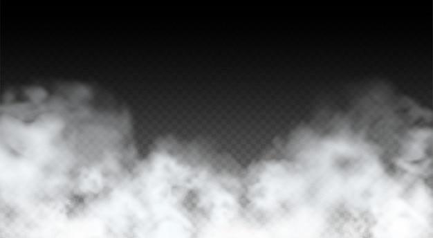 Vector abstract realistic fog cloud design element