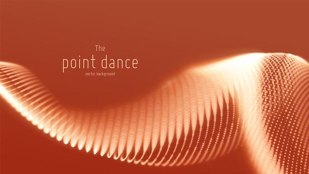 Вектор абстрактные красные частицы волны