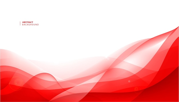 Vector abstract red wavy background. curve flow motion.