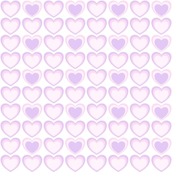 Vector  abstract seamless pattern of pink and violet heart pastel color valentines day