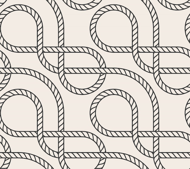 Vector abstract seamless rope background