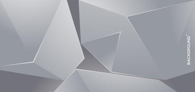 Вектор абстрактный серебряный металлический геометрический фон