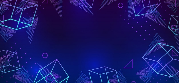 Vector abstract trendy 80s style background with neo memphis geometric