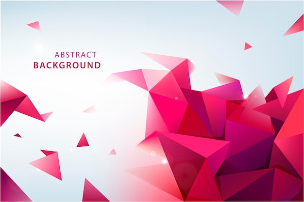 Vector abstract triangle background. 3d origami facet banner. modern wallpaper.