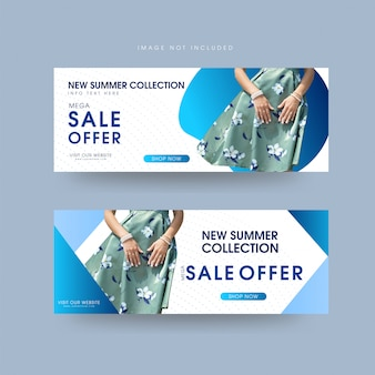 Vector abstract web banner template