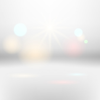 Vector Abstract white background with bokeh effect