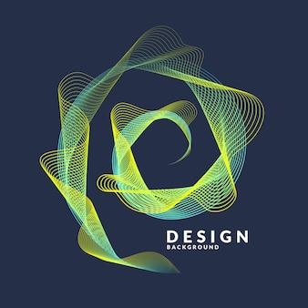 Вектор абстрактный с цветными динамических волн, линий и частиц.