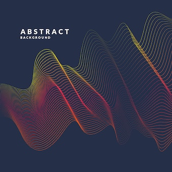Vector abstract with a colored dynamic waves, line and particles.
