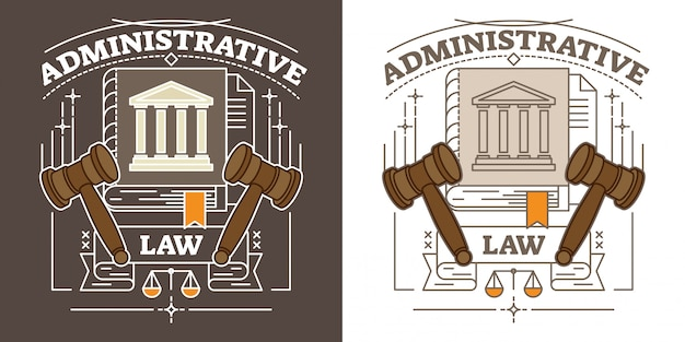 Vector administrative law illustration