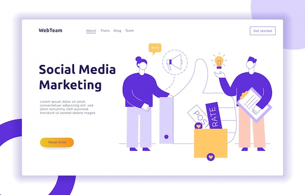 Vector advertisement and marketing social media service